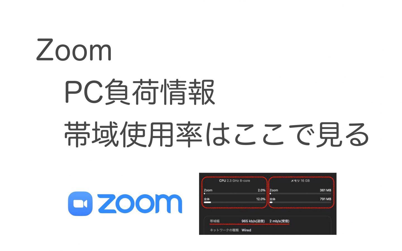 Zoom PCネットワークへの負荷状況