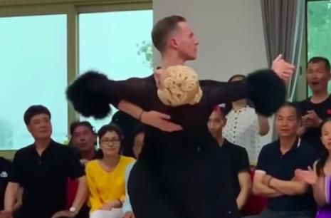 Evaldas Sodeika,Ieva Zukauskaite tango in china